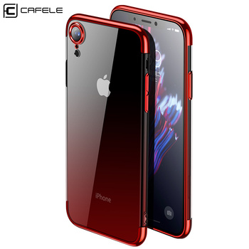 CAFELE Gradient Plating Case for iPhone Xr Cover Transparent Silicone Cover Luxury Aurora Soft TPU Phone Case For iPhone XR 1