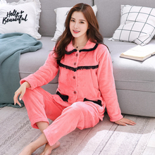 ae7e3c7714 Plus Size 4XL 5XL 6XL Winter Pajamas for Women Warm Thicken Middle and Old  Aged Pajama