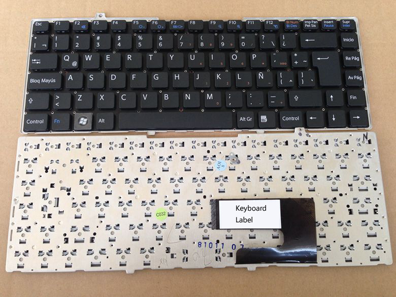 New notebook laptop keyboard for SONY VGN FW35F fw27w FW27/ FW48J/B FW58F/B  LA/LATIN layout for sony vpceh35yc b vpceh35yc p vpceh35yc w laptop keyboard