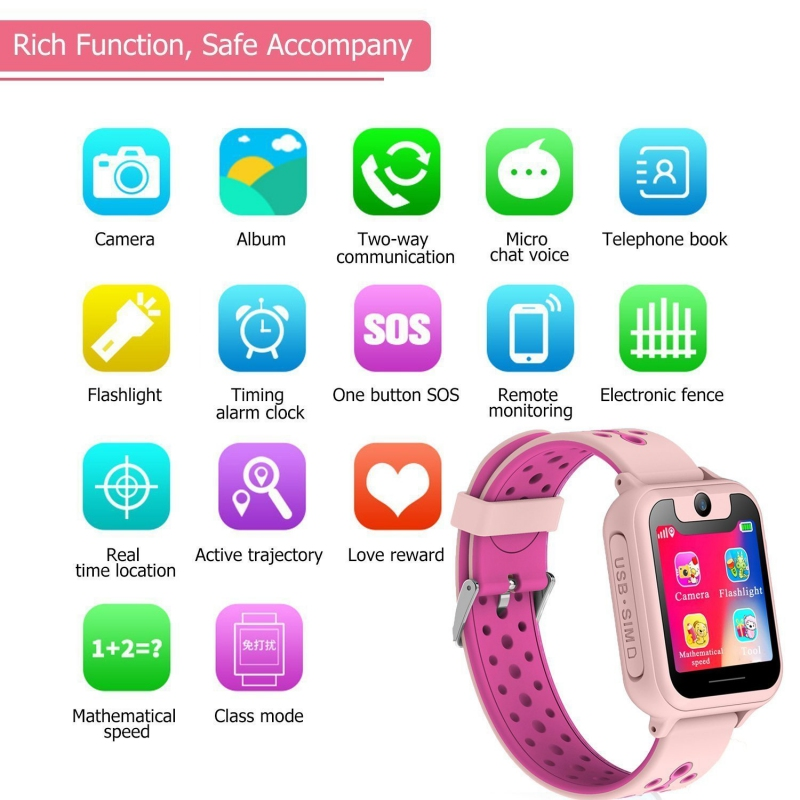"Image 3 - Kids S6 Smart Watch GPS Tracker Watch HD 1.54"" Touch Screen Remote Camera Anti Lost SOS Alarm SIM Location Device Children watch-in Smart Watches from Consumer Electronics"