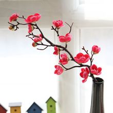 Plum Blossom Artificial Flowers Branch Shopping Mall Green plants Home Decoration Living Room Silk Cloth Crafts Fake