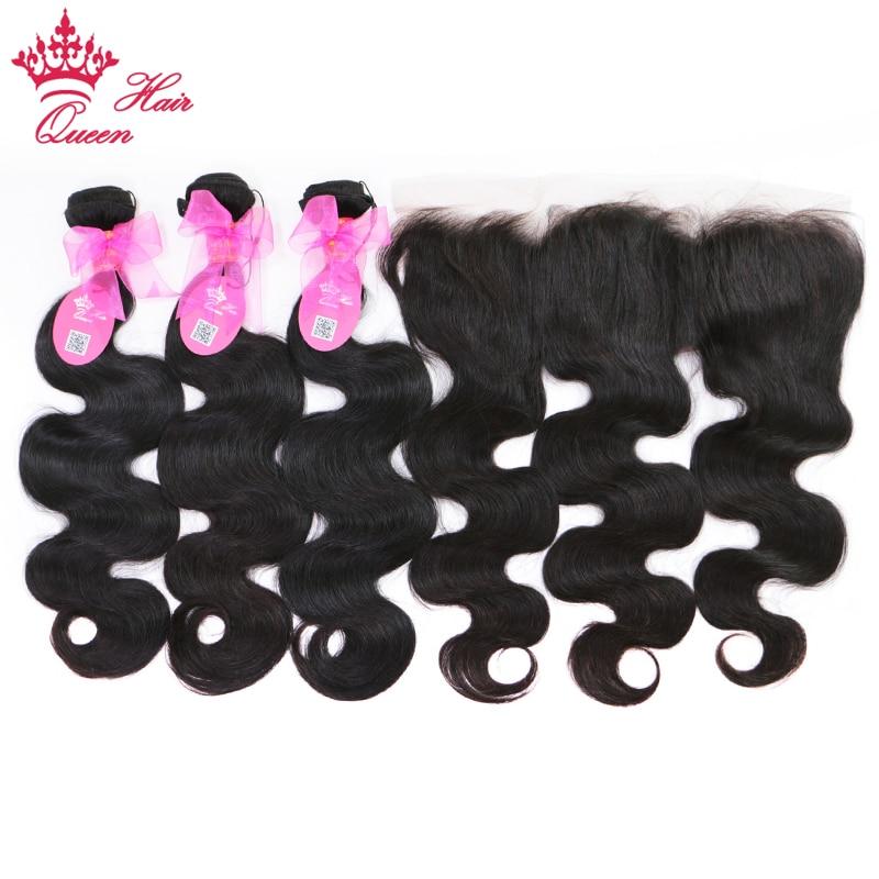 100 % 브라질 인간의 머리카락 바디 웨이브 3 묶음 - 인간의 머리카락 (검은 색)