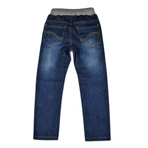 Image 2 - Dziecięce jeansy chłopięce spodnie jeansowe nastolatki jeansowe spodnie ciepłe nastolatki jesień zima pełne nity w pasie nowy rok Baby Boy odzież