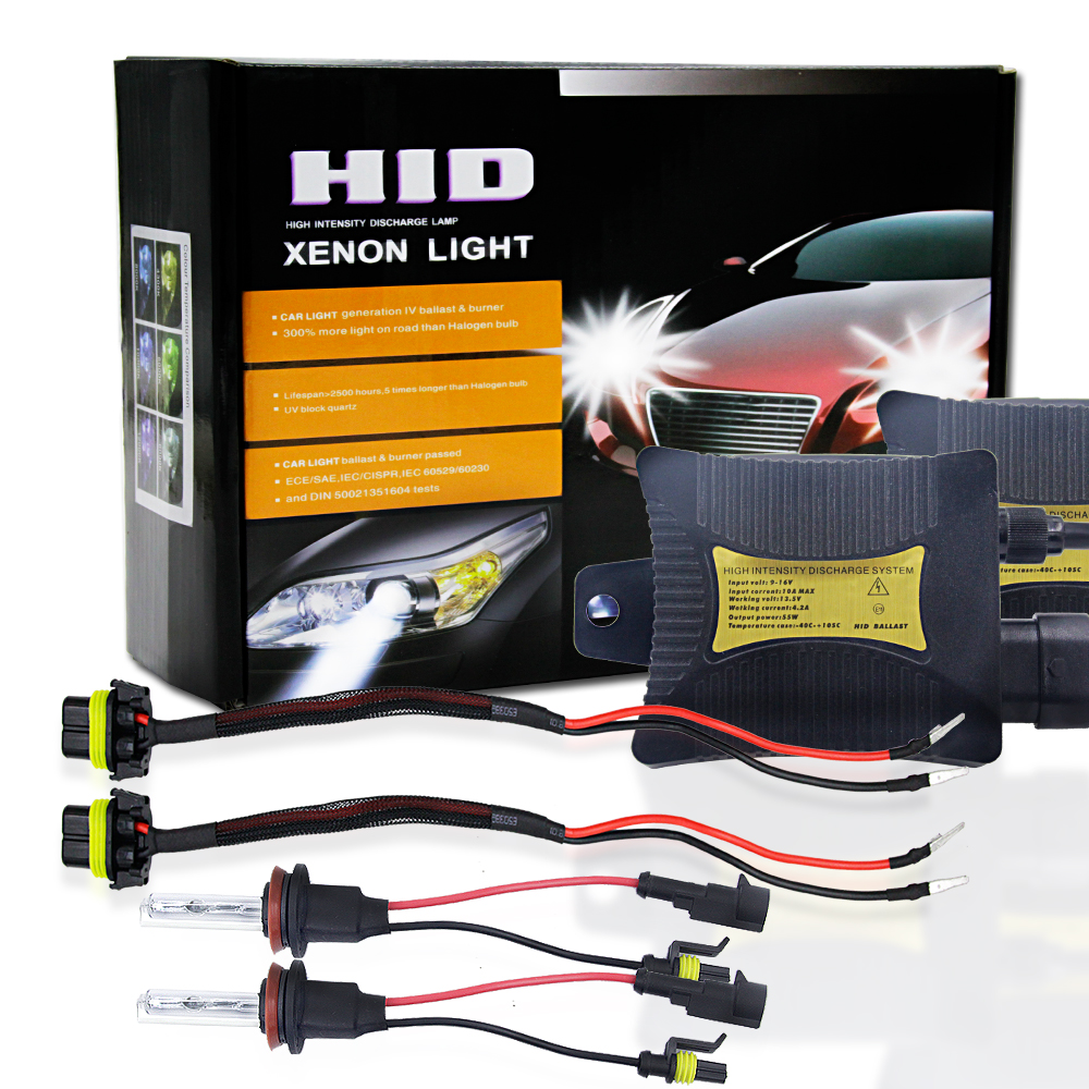 1 Set DC12V 55W Xenon Lamp H8 H9 H11 HID Kit 4300K 5000k 6000K 8000K 10000K 12000K Car Light Bulb