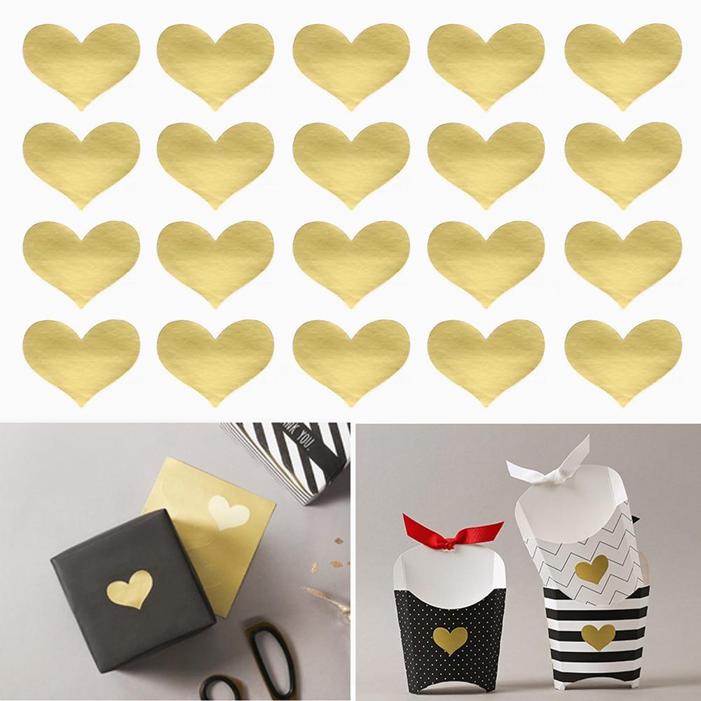 240Pcs/10 Sheets Golden Heart Handmade Cake Candy Packaging Sealing Label Sticker Baking DIY Gift Party Stickers Seal240Pcs/10 Sheets Golden Heart Handmade Cake Candy Packaging Sealing Label Sticker Baking DIY Gift Party Stickers Seal
