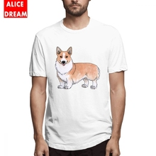 купить Corgi Dog T Shirt For Man Graphic Print Short Sleeve Round Neck Alicedream T Shirt дешево