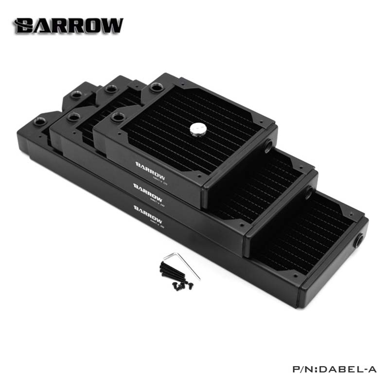Barrow Single wave Double wave Radiator water cooler heatsink Thick 34mm 45mm 60mm length 120mm 240mm