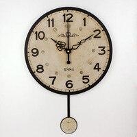 صامتة كبيرة الزخرفية ساعة الحائط التصميم الحديث خمر جولة ساعة الحائط ديكور المنزل 12888 المنزل ساعات الحائط