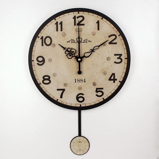 дюймовый молчать 12888 часы движение декоративные настенные часы современный дизайн старинные круглые настенные часы домашнего декора настенные часы часы настенные часы на стену будильник старинные