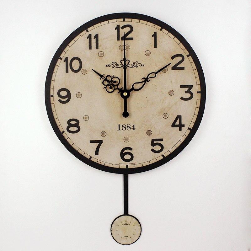 Us 1596 35 Offev Ve Bahçeten Duvar Saatleride Sessiz Büyük Dekoratif Duvar Saati Modern Tasarım Vintage Yuvarlak Duvar Saat Ev Dekoru 12888 Saat