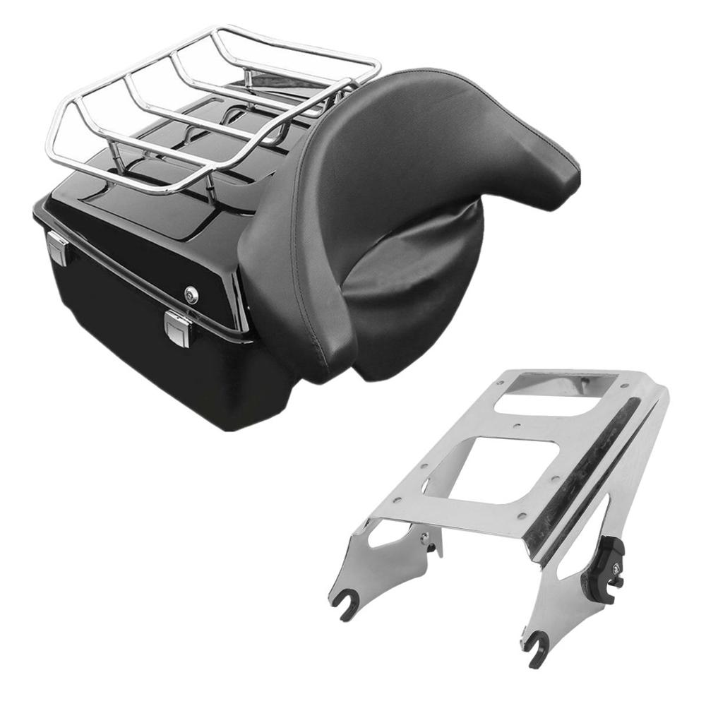 Rack For Harley Road Street Glide 2009-2013 Chopped Tour Pack Trunk Backrest