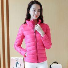 women parkas pink black winter Straight slim Cotton Clothes warm zipper  modern Simple solid casual plus size short coat autumn d3060b35c496