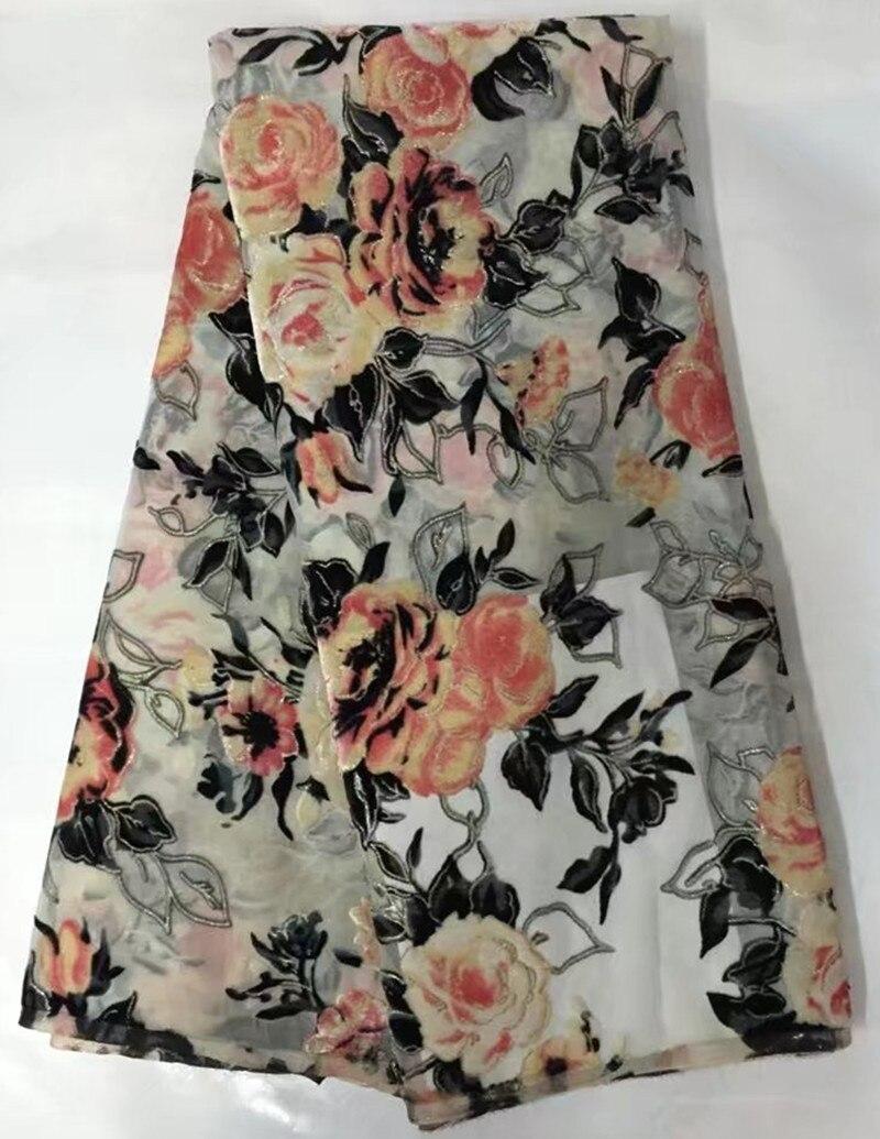 5yards nice flower silk lace fabric satin for dress top sale african silk velvet fabric good. Black Bedroom Furniture Sets. Home Design Ideas