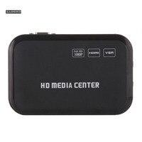 HD 1080P Media Player With HDMI VGA AV USB SD MMC Optical Output