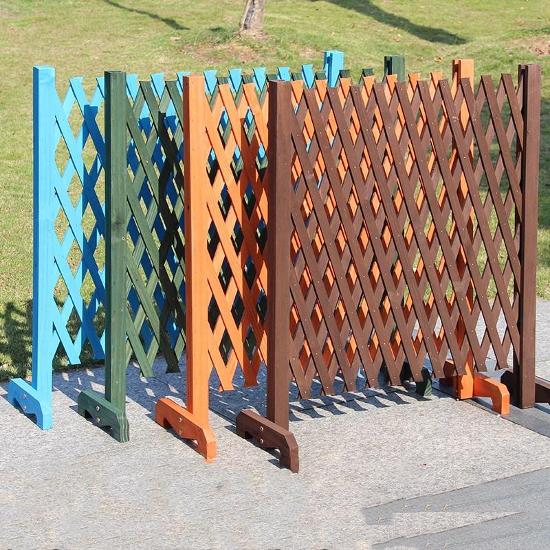 Us 45 8 Expanding Wooden Garden Wall Fence Panel Plant Climb Trellis Partition Decorative Garden Fence For Home Yard Garden Decoration In Fencing