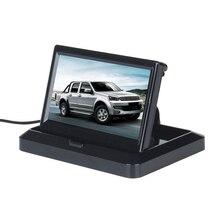 5 Дюймов Складной Монитор Автомобиля 2 Вт TFT ЖК-Монитор Заднего Вида Автомобиля В Тире для Резервного Копирования Камеры DVD VCR