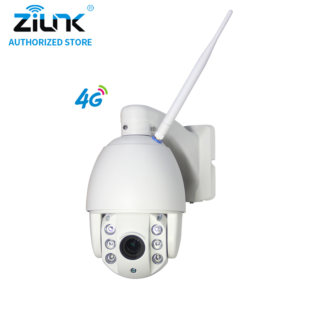 ZILNK 960P 3G 4G SIM Card IP Camera Speed Dome 1.3MP HD P2P Network 5x Zoom Waterproof PTZ IR Night Vision TF Card Outdoor White 4 in 1 ir high speed dome camera ahd tvi cvi cvbs 1080p output ir night vision 150m ptz dome camera with wiper