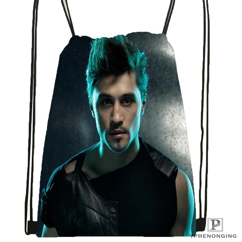 Custom Dima Bilan Drawstring Backpack Bag Cute Daypack Kids Satchel (Black Back) 31x40cm#180531-03-36