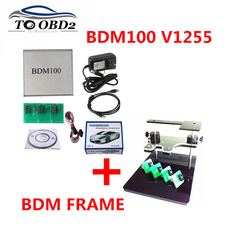 Newest BDM100 Universal Programador BDM 100 V1255 BDM Frame With Adapters Set Fit ECU Reader Flasher