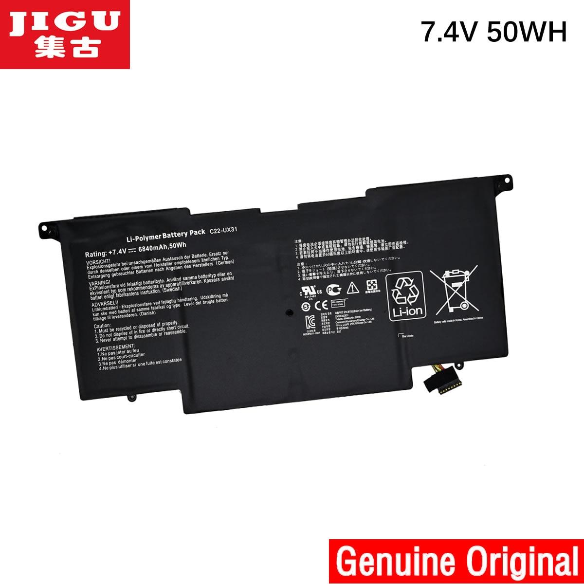 JIGU C22-UX31 C23-UX31 Original laptop Battery For Asus Ultrabook ZENBOOK UX31 UX31A UX31E 7.4V 6840MAH 50WH