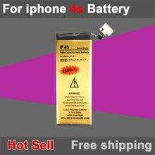Новый Хорошее Quality1430mAh Золотой Мобильный Телефон Аккумулятор для iPhone 4S Аккумулятор Бесплатная Доставка