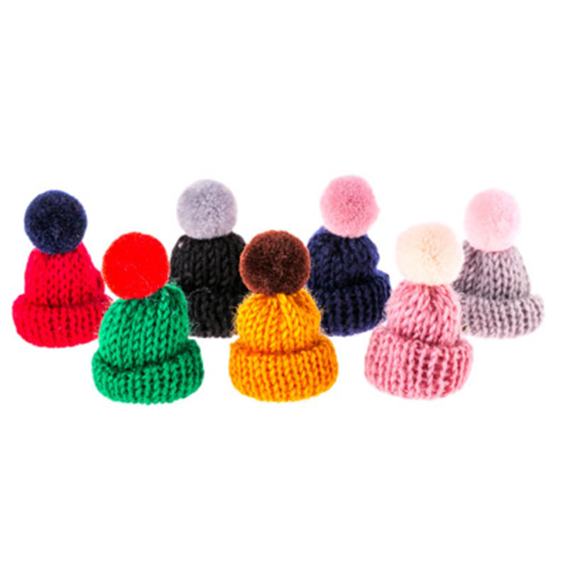Candy Color Cute Small Knitting Wool Ball Wool Mini Hat Brooch Pin Brooch Accessories Korean Jewelry for Women Girls in Brooches from Jewelry Accessories