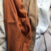 SC02 Singolo Strato Piega Garza Tessuto 100% Cotone 130 cm 51 ''larghezza 69 gsm sabbia lavata tessuto 70 m per la prova del campione