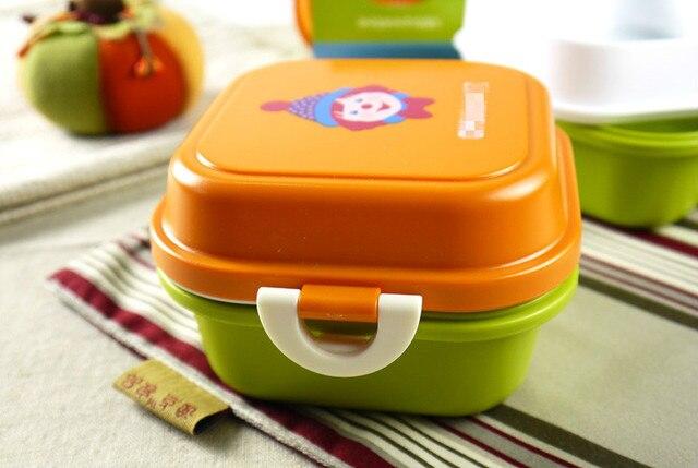 Прекрасный двойных слоев закуски коробки небольшой ланч нулевой корзинку портативные дети ребенок фрукты коробка высокое качество экспортируется