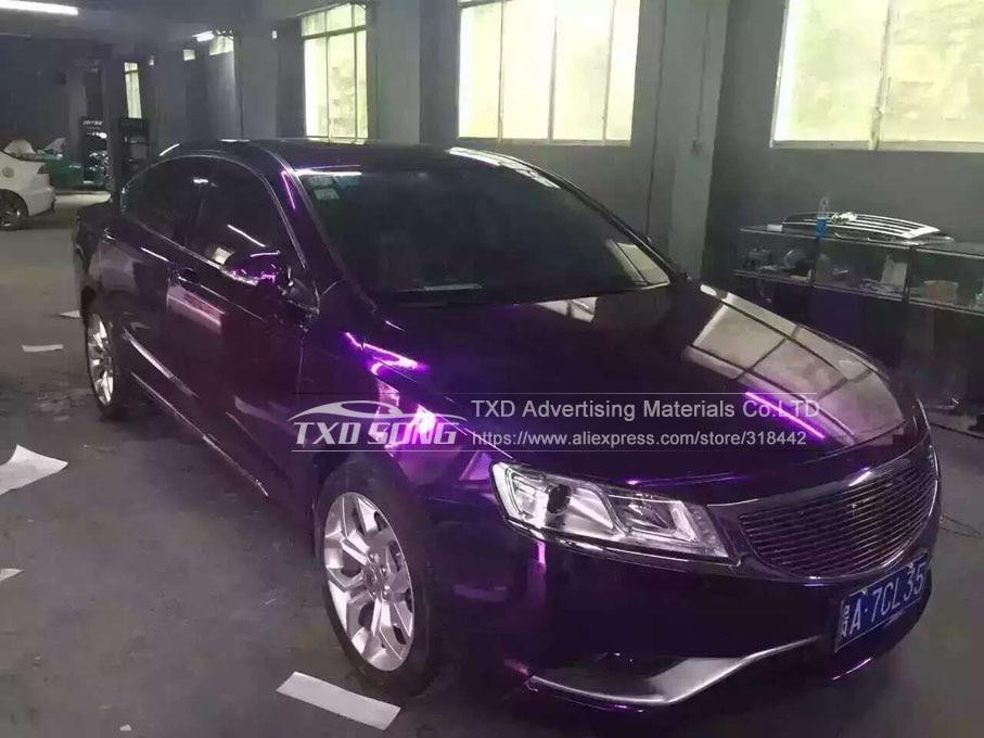 Image 4 - 50CM*100/200/300/400/500CMPremium High stretchable Mirror purple Chrome Mirror flexible Vinyl Wrap Sheet Roll Film Car Vinyl-in Car Stickers from Automobiles & Motorcycles