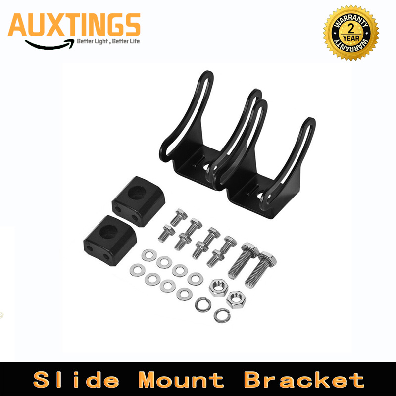 Slide Mount Bracket LED Light Bar Adjustable Mounting Bracket Working Light For Off Road Jeep ATV AWD SUV 4WD 4x4 Pickup