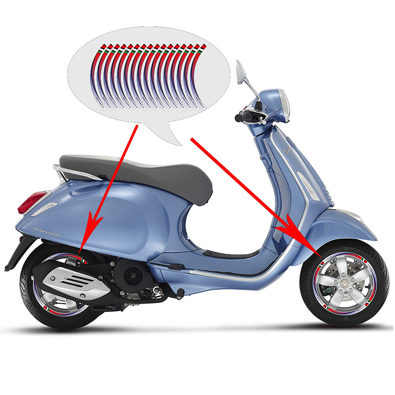 KODASKIN Wheel Rim Stickers Vinyl Stripe for Piaggio Vespa Sprint Primareva GTS 300 ie 250 Super Sport