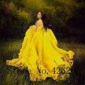 JY 2016 Mais Novo Estilo Profundo Decote Em V Chiffon Apliques Vestidos de Noite Lace Up Voltar Sexy A-Line vestido de festa Longo da Noite vestido