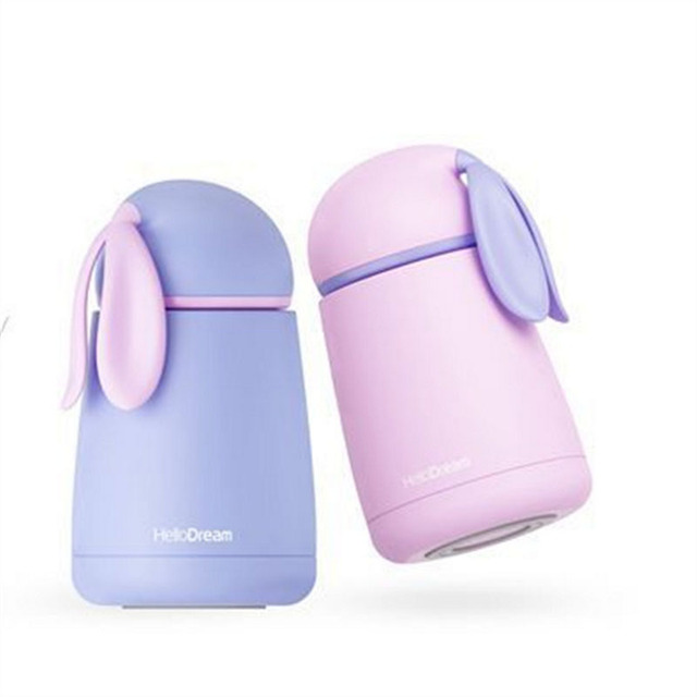 BearCavalier Rabbit Thermo Cup Stainless Steel kid  Thermos bottle For water Thermo Mug Cute Thermal vacuum flask child Tumbler