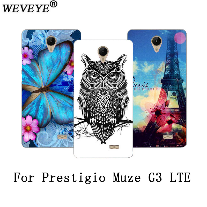 Fashion Beautiful cute rose Flowers animals and Eiffel Towers design case For <font><b>Prestigio</b></font> Muze G3 Lte <font><b>PSP3511</b></font> SOFT TPU cover image