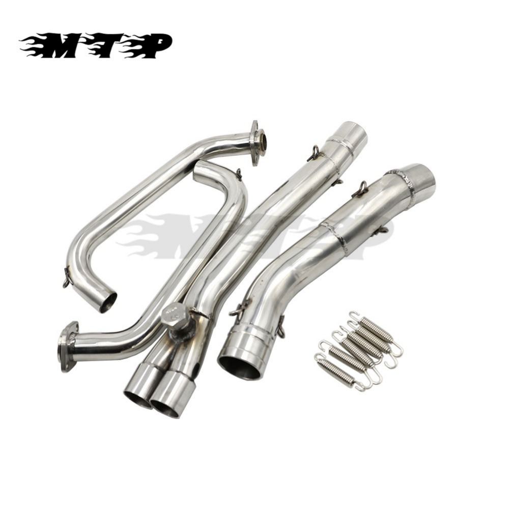 Ninja250 Motorbike Stainless Header Exhaust Clamp Mid Pipe