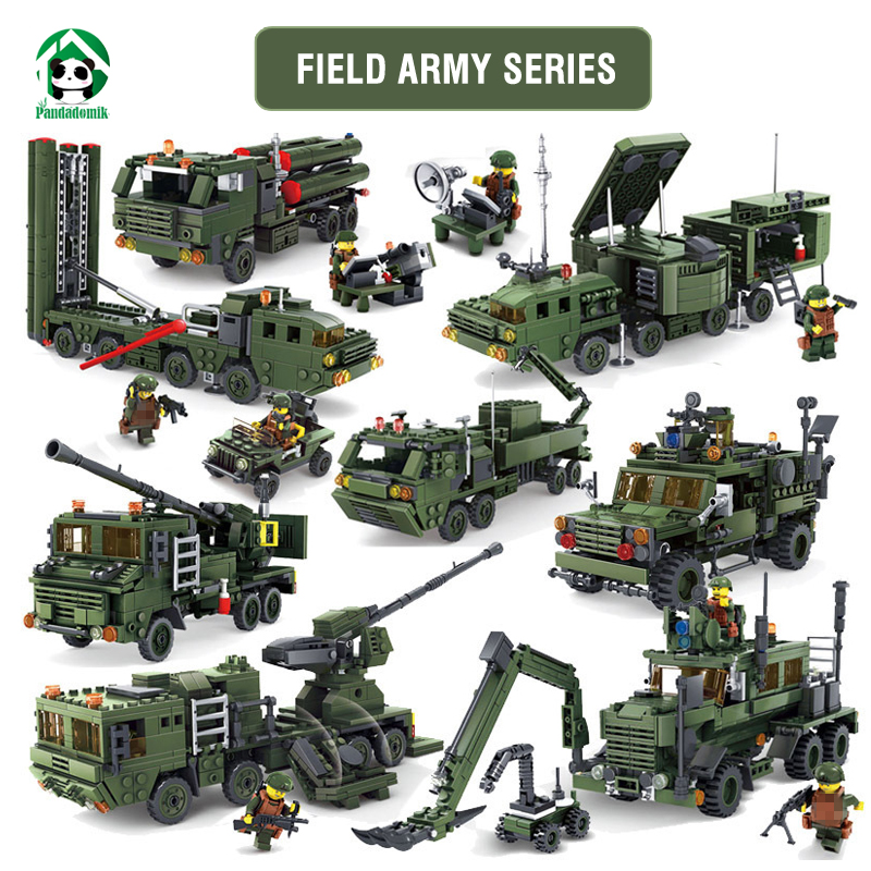 Kazi Field Army Military Missile Launcher Building Blocks Toy Bricks Kits War Truck Weapon Model Toys for Boys Compatible lepin limit discounts trumpeter model 1 35 scale military models 01019 soviet 9p117m1 launcher w 9k72 missile elbrus model kit