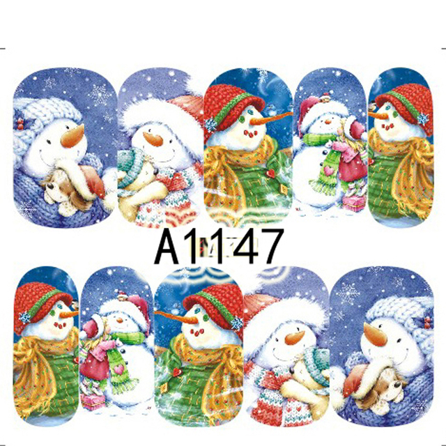 12 Xmas Christmas Nail Art Water Sticker