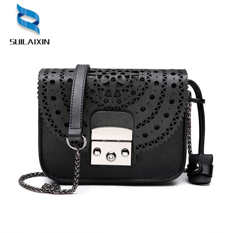 Fashion Women genuine Leather Messenger Bag Ladies Small Hollow Out Crossbody Bags Famous Brands Designers Shoulder Bags fashion casual bags handbags with short handle women famous brands shoulder messenger bag gift hollow out flower crossbody bag