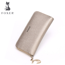 FOXER Famous Brand Women Cow Leather  Wallet Luxury Female Purse Free shipping