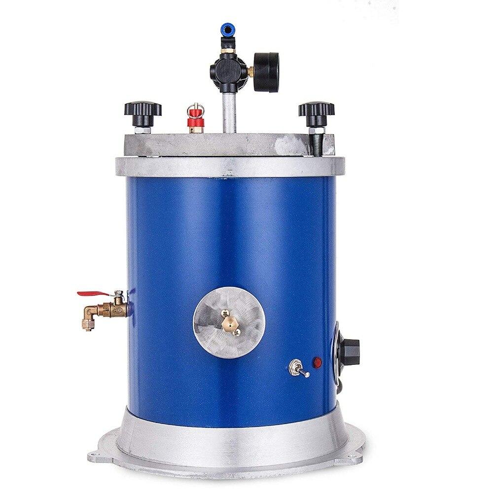 ワックスインジェクター5.5LBワックスインジェクション用ダブルノズル付きジュエリー500Wワックス鋳造機用タンクインジェクションマシンВоск