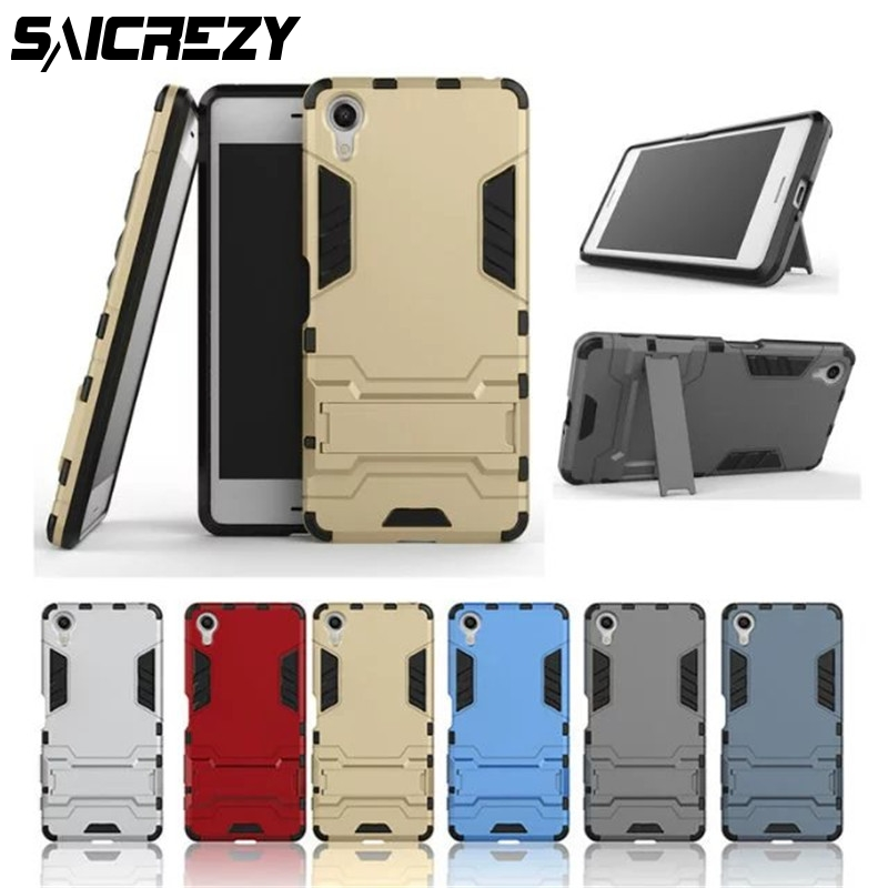 Pour Sony Xperia E5 X Compact F5321 Performance XA Hybride Double Heavy Duty Dur Silicone + PC Armure Retour couverture coque