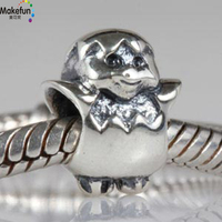 Wholesale 925 Sterling Silver Easter Chicken Charm Fits Bracelets Bangles Pendant Bracelet Jewelry
