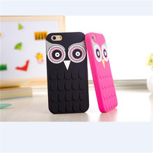 New Arrival 3D Cute Cartoon OWL Soft Silicon Rubber Phone Case Cover For Apple iPhone SE 5 5S 5G 6 6S 4.7 6 plus 5.5 C626