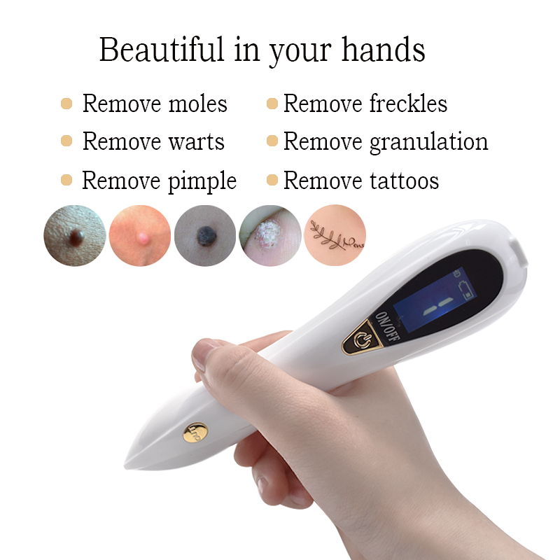 Face Care Plasma Pen Beauty Tool Laser For Tattoo Removal Machine Face Dark Spot Mole Skin Tag Remover Facial Care/Massage 8file