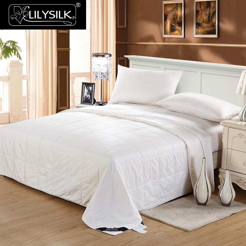 Image 2 - LilySilk Comforter Duvet Silk Washable Cotton Covered 100 pure and natural long strand silk floss Free Shippingsilk comfortersilk flosspure silk comforter -