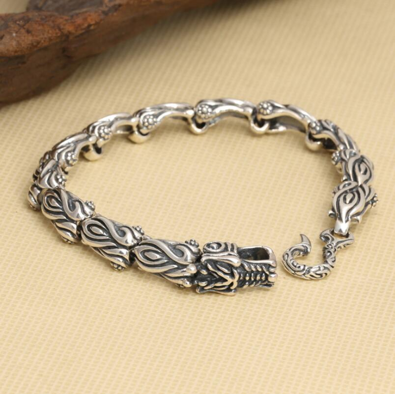 925 sterling silver jewelry domineering Dragon scale bracelet ethnic jewelry925 sterling silver jewelry domineering Dragon scale bracelet ethnic jewelry