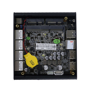 Image 4 - Yanling 4 гигабитный процессор Intel Lan J3160 карманный мини компьютер поддержка Pfsense брандмауэр vpn AES NI без вентилятора NUC PC 2 * HDMI