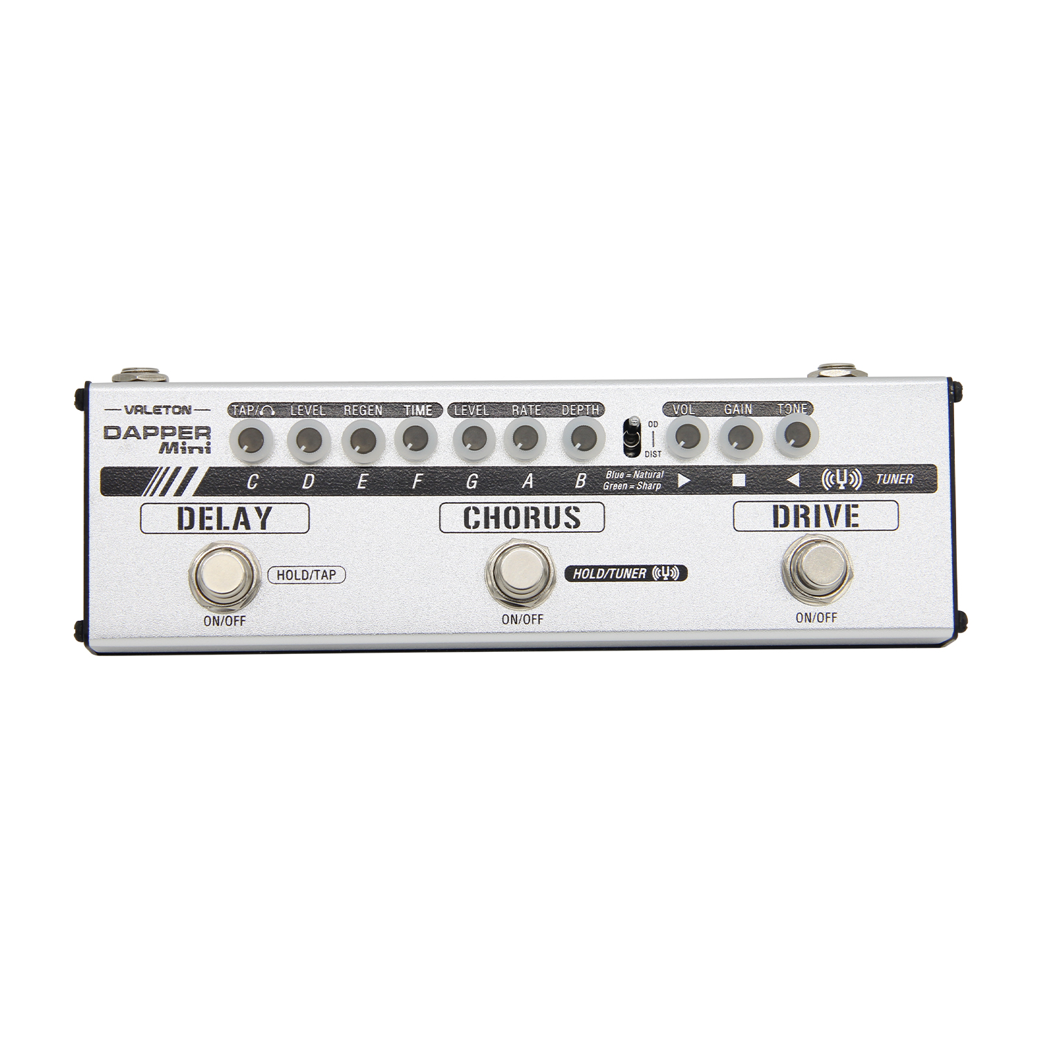 Valeton MES 1 Dapper Mini Guitar Effect Pedal All In One Effects Strip with Earphones Jack Tuner Drive Chorus Delay Effects