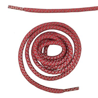 """Круглая веревка 3м Светоотражающие шнурки для ботинок бегуна видимые безопасные шнурки 14 цветов 4"""" /120 см - Цвет: red"""