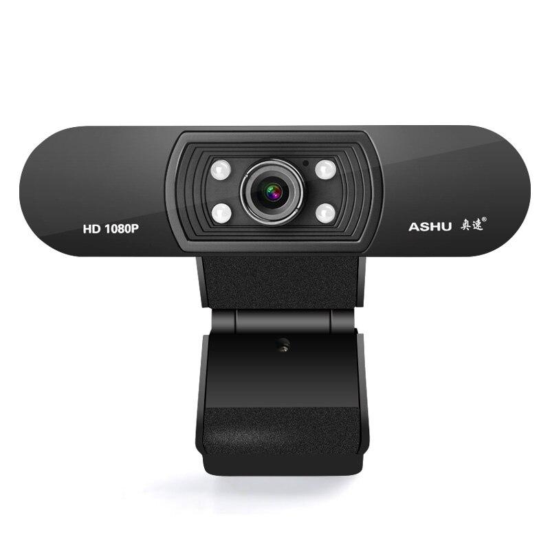Webcam 1080 p, HDWeb Camera met Ingebouwde HD Microfoon 1920x1080 p USB Plug n Play Web Cam, Breedbeeld Video